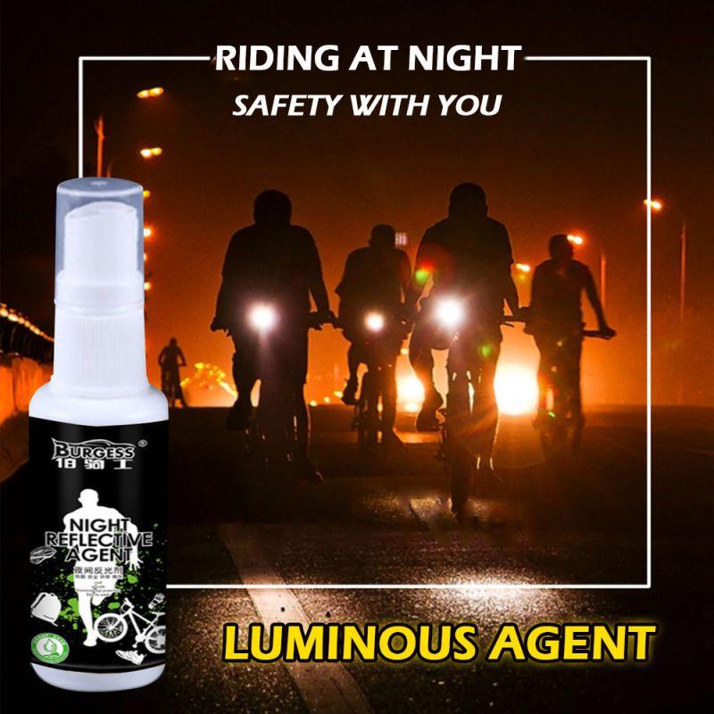 Светоотражающий спрей, светящийся в темноте, отражающая краска, антиаварийный безопасный светящийся агент для ночной езды, легко моется