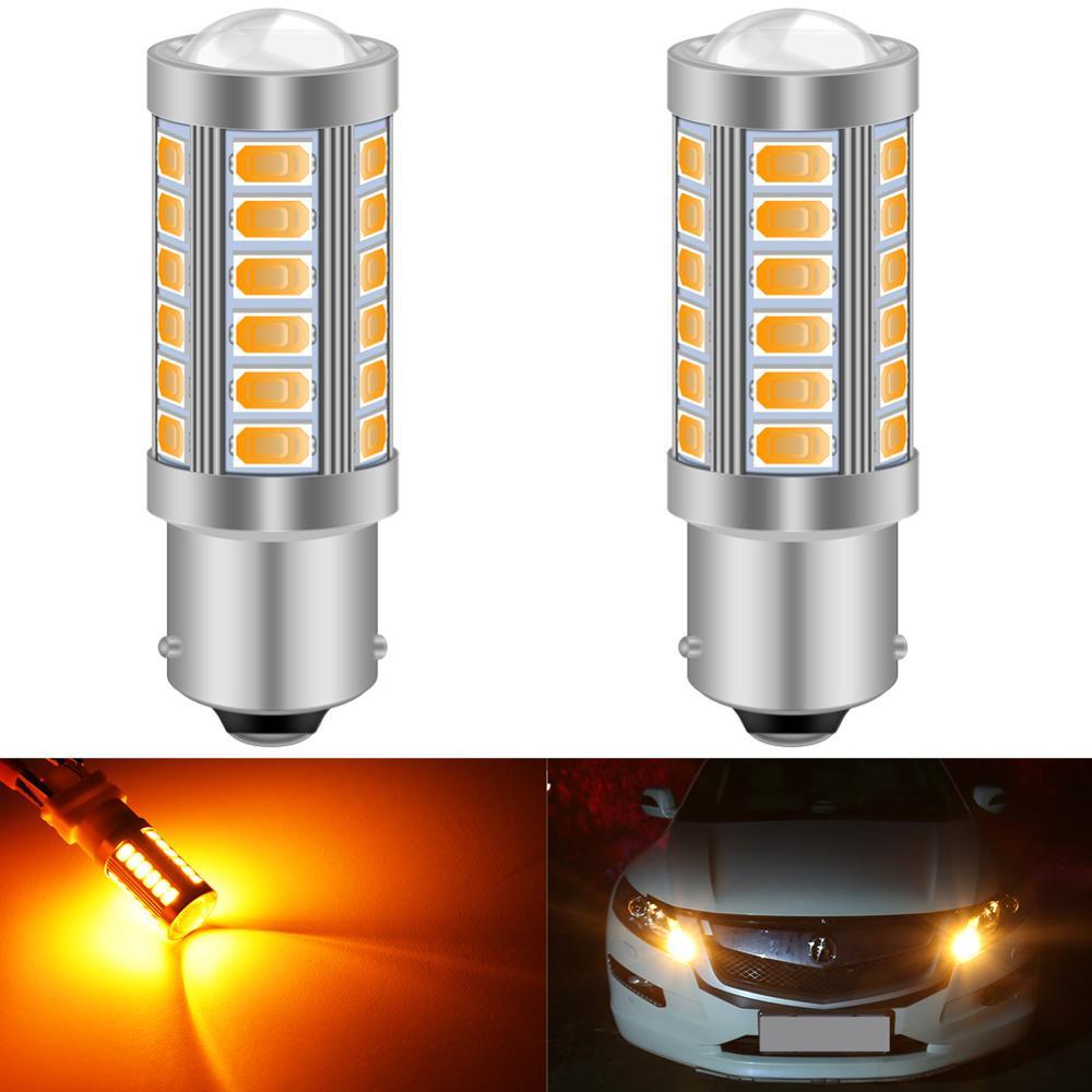 Katur 2 шт. 1156 BAU15S PY21W 7507 светодиодные лампы для автомобилей указатели поворота Янтарный/оранжевый свет белый красный синий 5630 33SMD