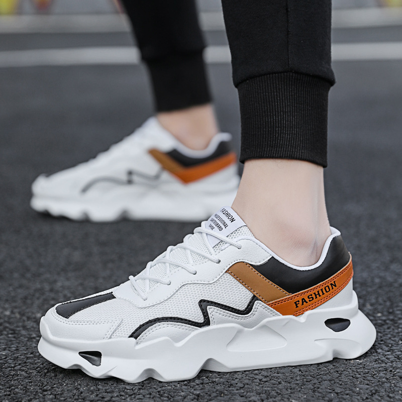 MEN'S SHOES Spring New Style Breathable Shoe Men's Trendy Shoes Versatile Athletic Shoes Men's Korean-style Trend Running Casual