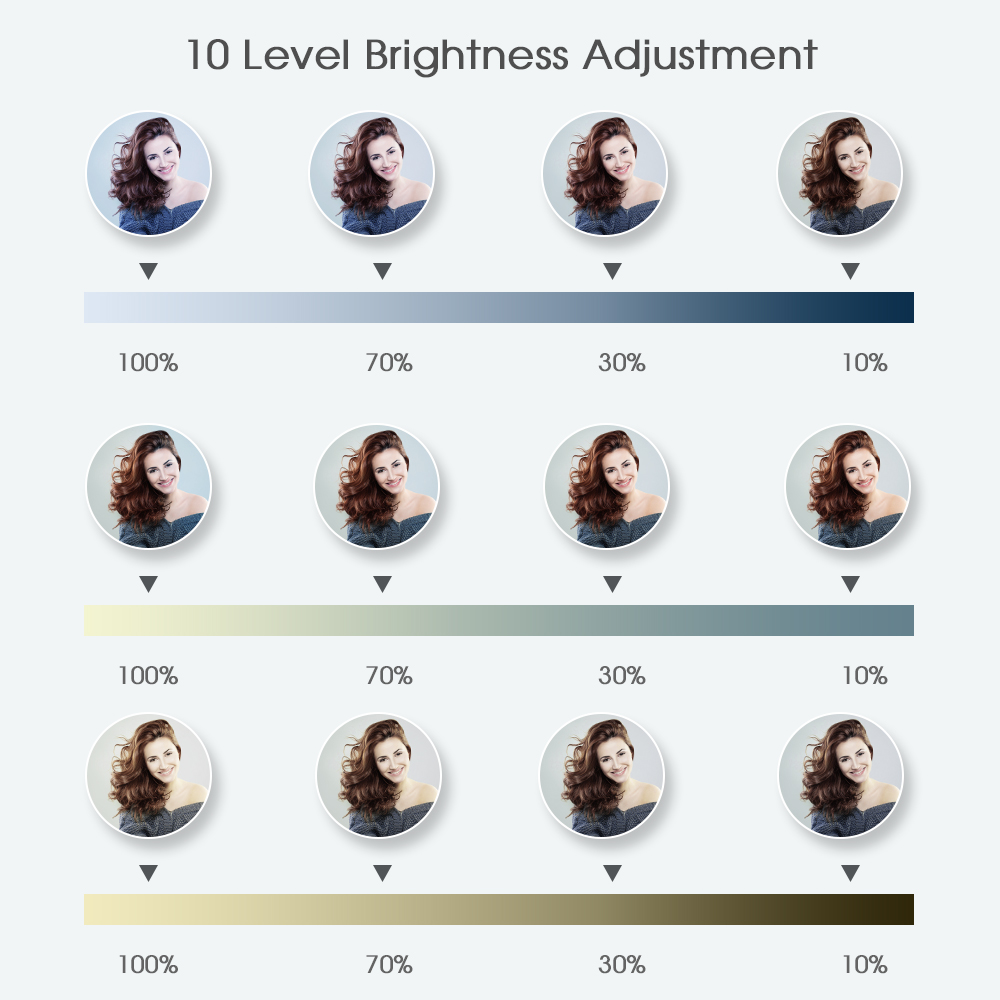 Selfie ring light fotografía luz led borde de lámpara con soporte - Cámara y foto - foto 3