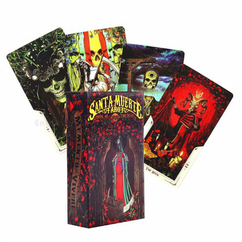 Full English 78pcs Cards Santa Muerte Tarot Deck Book of the Dead Family Party Board Game Entertainment bedford david i ve seen santa board book