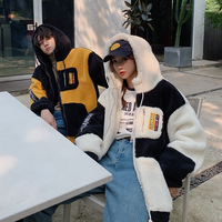 Couple Clothes Winter Coat Lambs Wool Cotton padded Clothes Korean style Loose Fit Students Thick Jacket Large Size Students Men