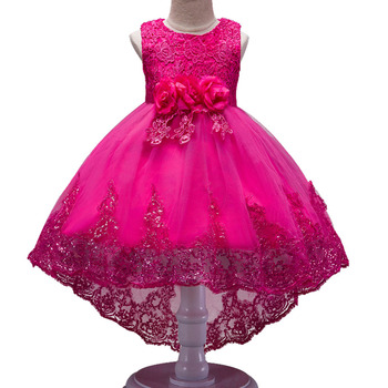Girls Sleeveless Princess Children flower Party dress Wedding 3-12 Years Girls Trailing Party Prom High Quality Lace vestido 2