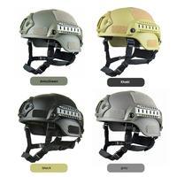 Capacete de paintball capacete de airsoft specia força chapéu lateral ferroviário 4 cores tático papel pegajoso camuflagem sobrevivência selvagem|Blind & Carrinho Da Árvore| |  -
