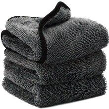 プロ洗車マイクロファイバークリーニング乾燥布ヘミングカーケア布ディテール洗車タオルトヨタ