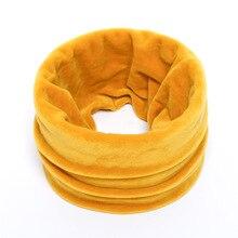 High Quality Golden Velvet Rings Women Men Scarf Solid Warm