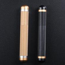 2 pçs/lote Travel Case Cigar Humidor Charuto de Metal Tubo de Alumínio Portátil Titular Mini caixa de Charuto para 1 170*22mm Charuto Ouro Preto