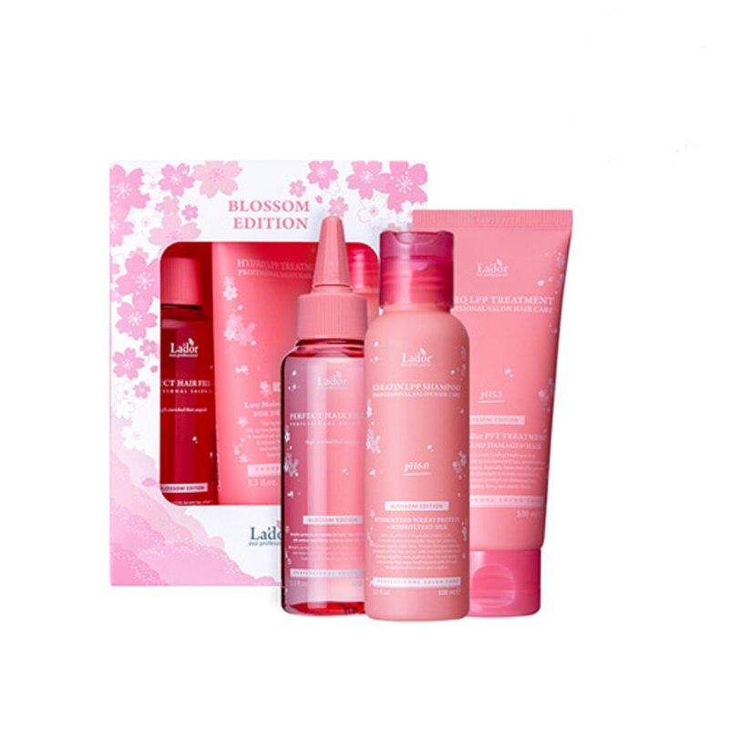LADOR Blossom Limited Edition Keratin Shampoo 100ml Hair Treatment 100ml Lado Perfect Hair Fill-Up 100ml Collagen Hair Care