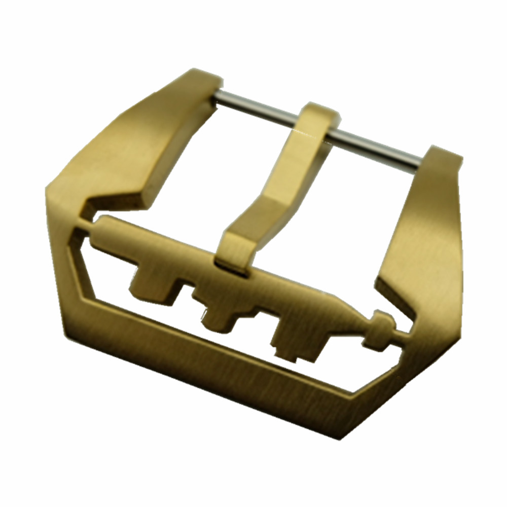20 22 24 26mm Pure Copper Watch Buckle Screw-in Fit For <font><b>PAM</b></font> Diving Watch Band <font><b>Bracelet</b></font> Strap Screw Buckle + Tool image