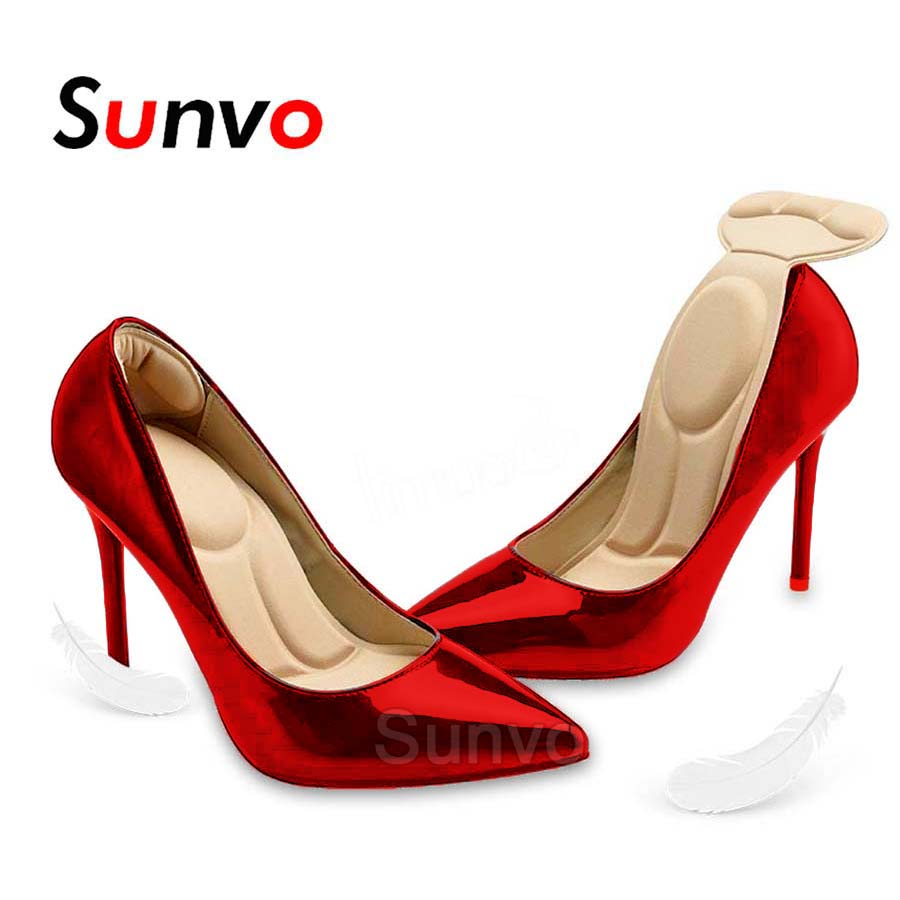 bc6694eb771 US $4.35 |Sunvo Women Insoles High Heels Shoe Pads for Foot Massage Arch  Support Adjust Shoe Size Sponge Wholesale Dropshipping Inserts-in Insoles  ...