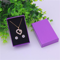 120pcs/lot Wholesale Jewelry packaging Box Craft cardboard Earrings Storage Box Small Gift Box For Necklace 8x5x2.5cm