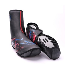 Reflective Bicycle Lock Shoes Cover Cycling Shoe Cover MTB Road Bike Shoe Boot Protector Windproof Fleece Thermal Bike Overshoes