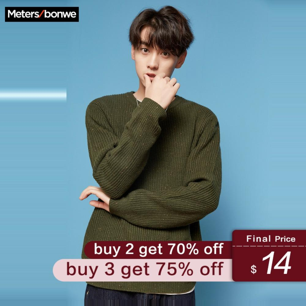 Metersbonwe New Winter Men Fashion Long Sleeve Knitted Men Cotton Sweater High Quality Clothes
