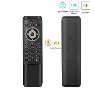 Image 2 - MT1 kablosuz sinek hava fare 2.4G desteği arkadan aydınlatmalı Gyro IR öğrenme için MIC ile X96 H96 MAX TV kutusu akıllı ses uzaktan kumanda