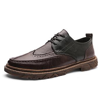 Moda skórzane męskie obuwie buty do biura męskie mokasyny mokasyny buty moda Sneakers moda tanie i dobre opinie MINUSIKE Skóra Split RUBBER 721347 Lace-up Pasuje prawda na wymiar weź swój normalny rozmiar Podstawowe Stałe Oddychające