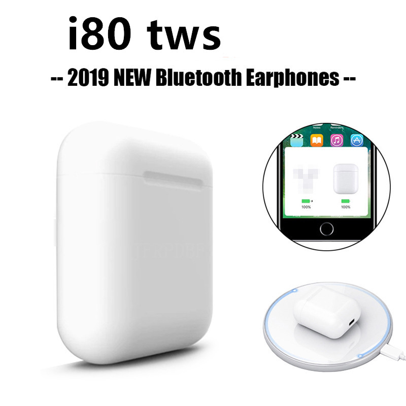i80 Tws Bluetooth 5.0 Earphones Pop Up <font><b>i80tws</b></font> Wireless Charging Touch Control Earbuds 6D Sport Bass Not i20000 i30000 i10000 tws image