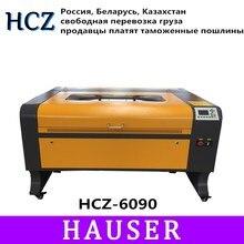 Free shipping 6090 80W/100w/130w ruida Co2 Laser engraving with CNC laser engrav