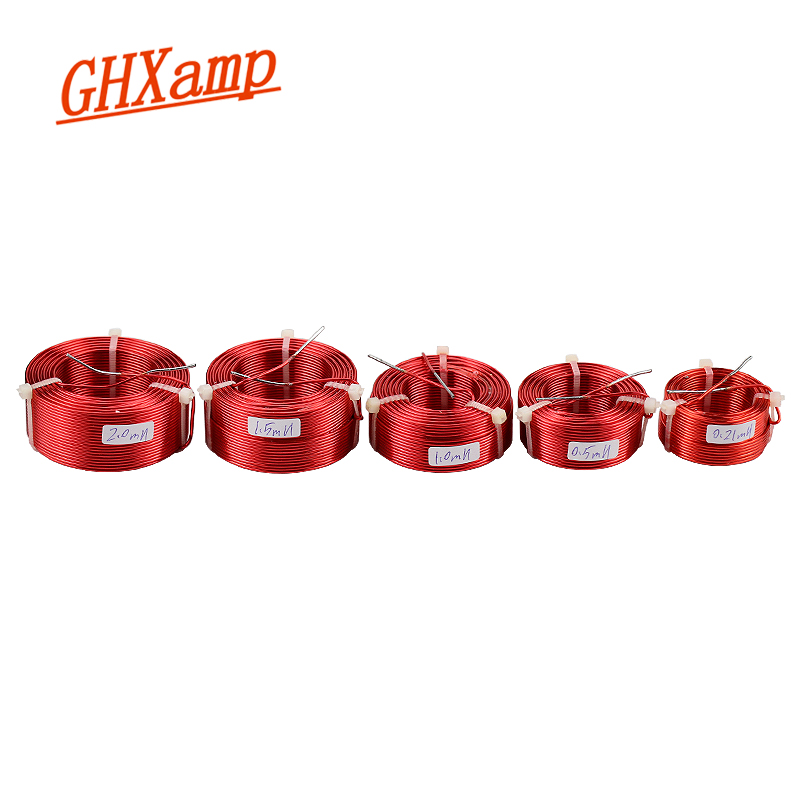 GHXAMP 1PCS 1.2mm Speaker Crossover Inductor Coil Oxygen-Free Copper Frequency Divider Coil Inductance 0.21mH 0.5mH 1.0mH 1.5mH
