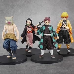 Image 3 - Фигурка Kimetsu no yaiba, фигурка nezuko tanjirou zenitsu, аниме фигурка рассекающего демонов, экшн фигурка из ПВХ, коллекционные модели, игрушки, подарки, 6,5 18 см