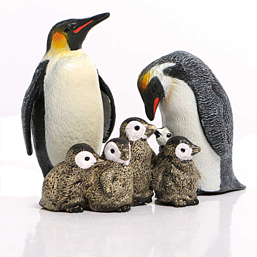 TOYMYTOY Penguin Collection Plastic Ocean Animal Figure Model For Babies And