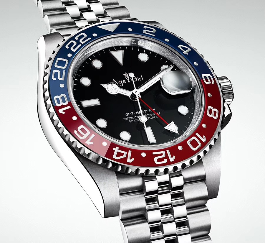 Luxury GMT Black Ceramic Red Blue Bezel Men Mechanical Stainless Steel Automatic ETA2813 Jubilee Bracelet Master Batman Watches