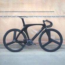 Melovelo track bike 51cm frame single speed bike carbon frame with carbon fiber fork color compelted