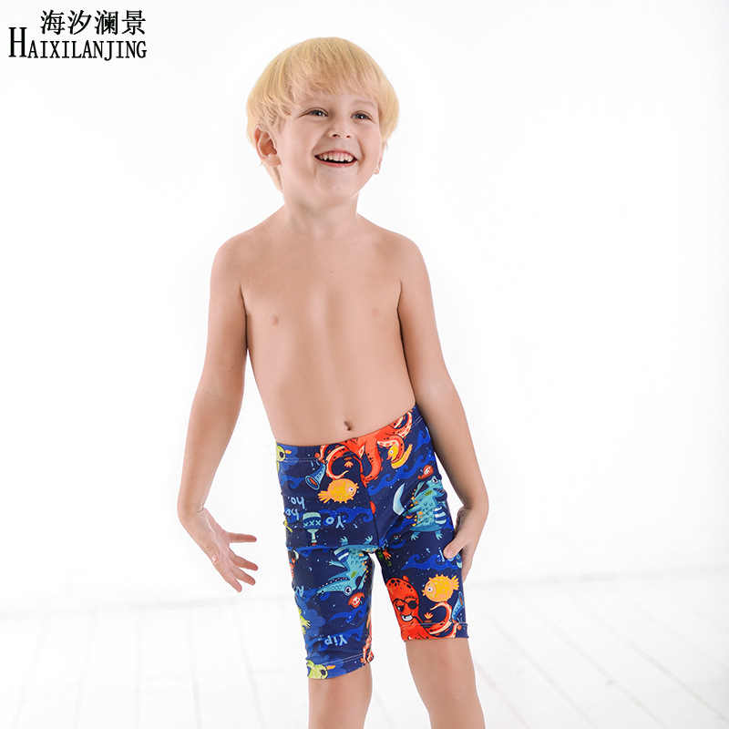 New Style CHILDREN'S Swimming Trunks BOY'S Handsome Underwater World Short Swimming Trunks Spa Resort Male Baby Swimming Trunks