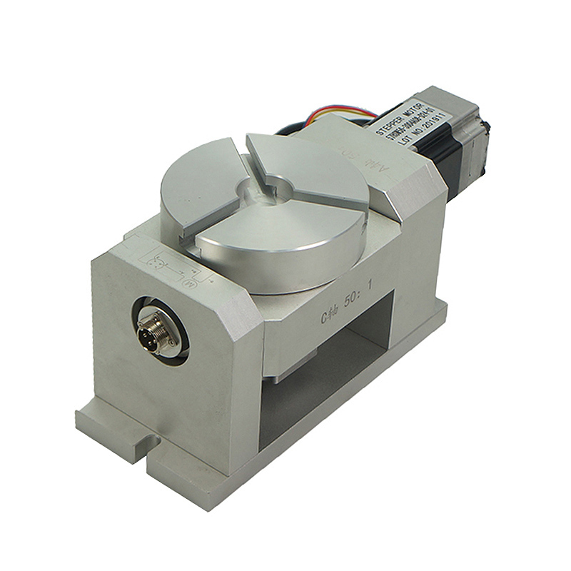 DIY CNC Kits 4th Axis CNC Dividing Head Harmonic Reducer Cylinder Engraving With Waterproof Stepper Motor 5th Axis Rotary