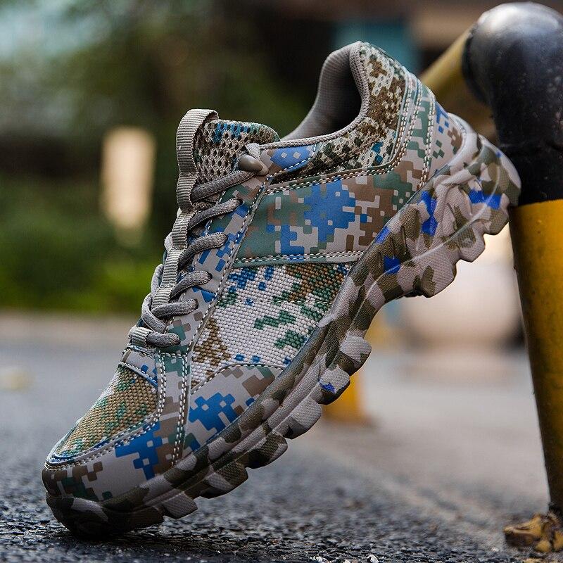 Men Camo Sport Shoes Anti Slip Running Sneakers Plus Size 39-46 Outdoor Sport Gym Walking Trainers Camouflage Mens Footwears