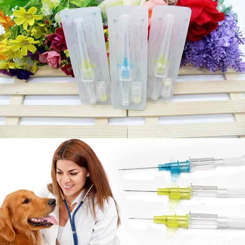 Disposable pet special infusion indwelling needle sterile and heat-free a retention needle and heparin cap color random