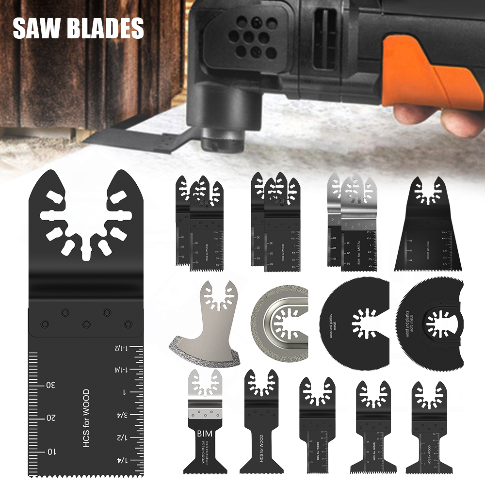 16 Pcs Oscillating Tool Saw Blades For Renovator Power Tools For Fein Multimaster Dremel Electric Tools Accessories Cutting