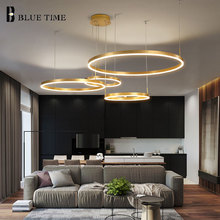 Gold frame Led Chandelier For Living room Bedroom Dining Fixtures Acrylic Ceiling Lighting 40 60 80 100cm