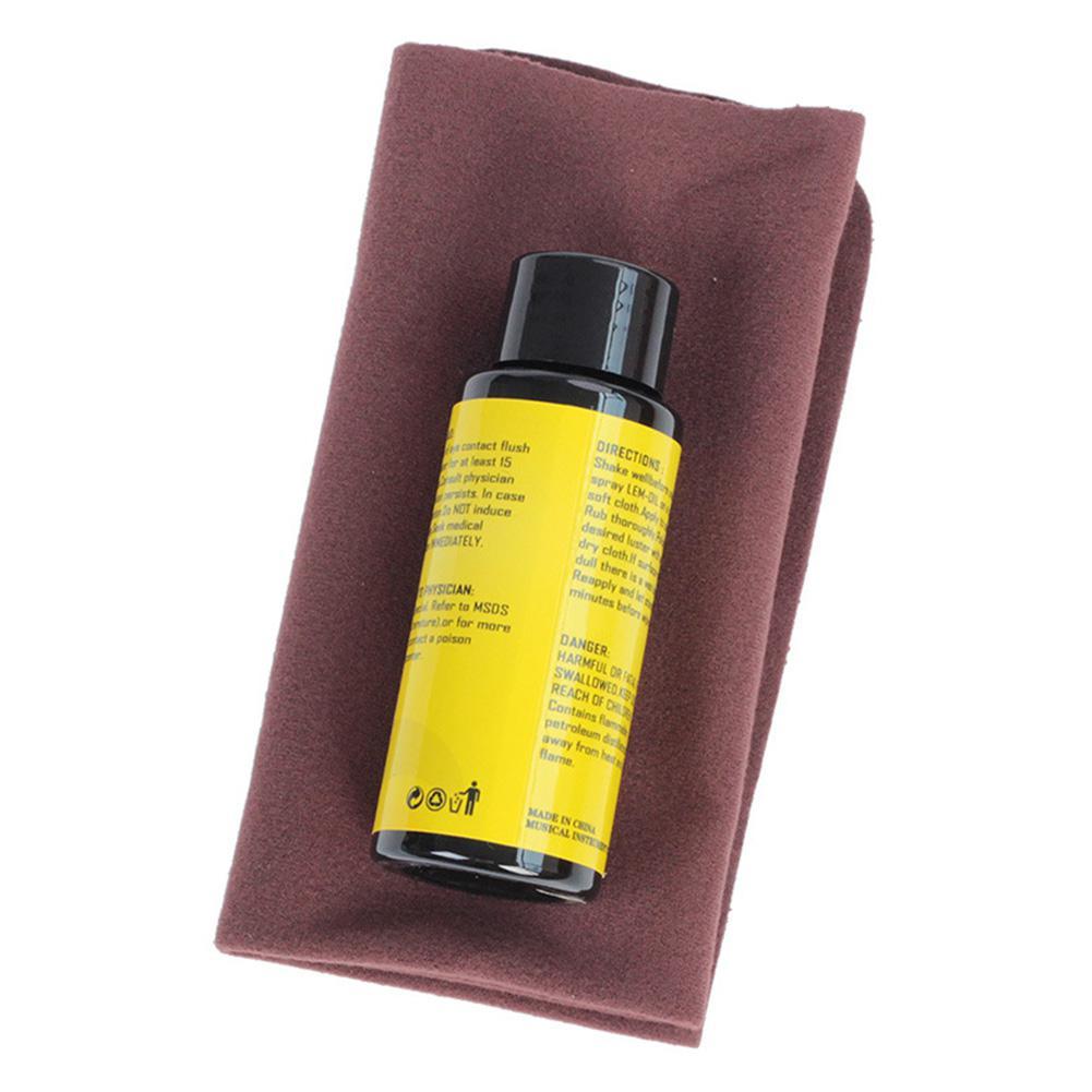 70ML Guitar Fingerboard Nursing Oil Fretboard Lemon Oil + Cleaning Cloth Set Universal Guitar Ukulele Bass Care Tool Accessories
