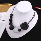 Black Flower Beaded ...