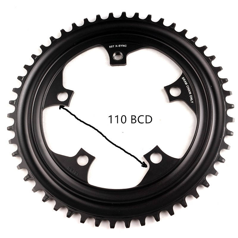 SRAM FORCE CX1 X SYNC Chainring CycleCross Narrow Wide 50T 110BCD 9 10 11 Speed