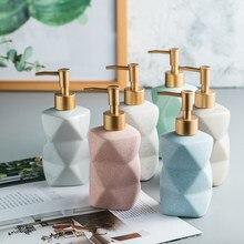 İskandinav banyo aksesuarları seti seramik el Sanatizer dağıtıcı şişe lüks şampuan ve saç kremi dağıtıcı şişeleri