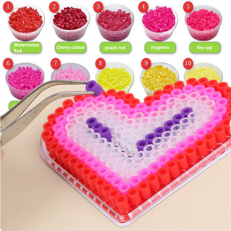 1000 Pieces 5mm Hama Beads Perles A Repasser Beads EVA Puzzle Crafts For Kids Children Adults Fuse Bead DIY Intellectual Puzzles