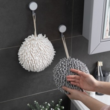 Hand-Towel Kitchen with Lanyard for Adults Bathroom Washcloth Absorbent Ball-Shaped Fast-Drying