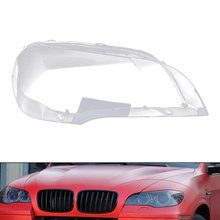 Car Clear Headlight Lens Cover Replacement for BMW X5 E70 2008-2013 Front Lamp Shell PC Waterproof S23