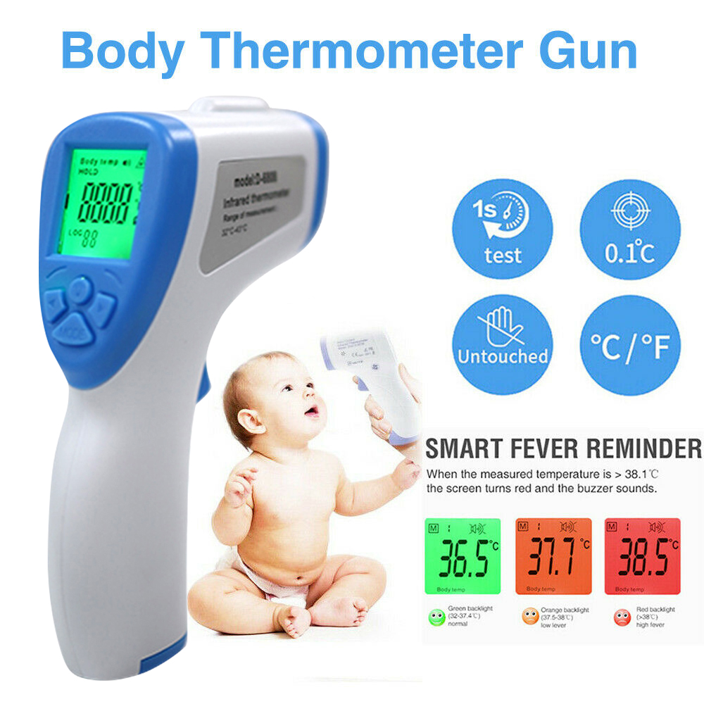 Non-contact Forehead LCD Digital Infrared Thermometer Handheld Portable Electronic Temperature Adult Baby Care Measurement D20