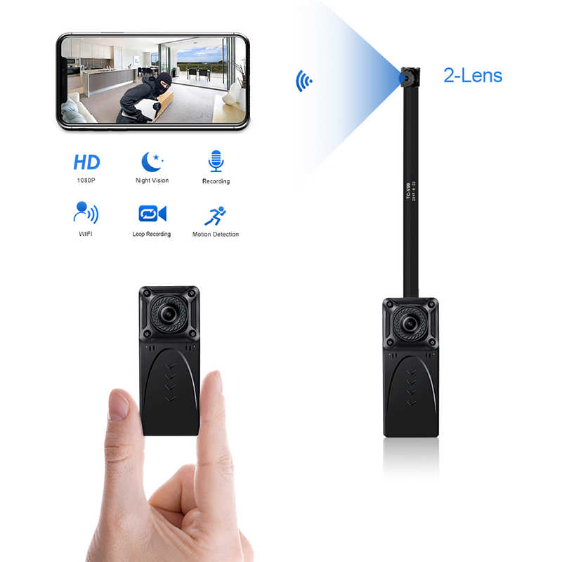 HD 1080P DIY WiFi IP Mini Camera P2P Wireless Night Vision Micro Camcorder Video Recorder Support Remote View Hidden TF card