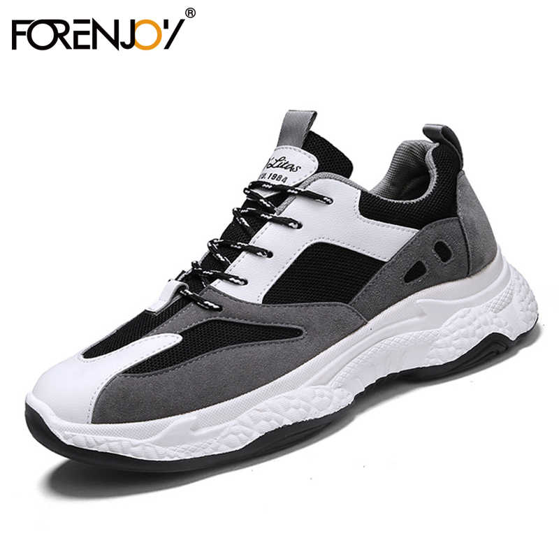 FORENJOY Sneakers Men's Shoes 2020 Daddy Shoes Casual Shoes Thick-soled Running Shoes