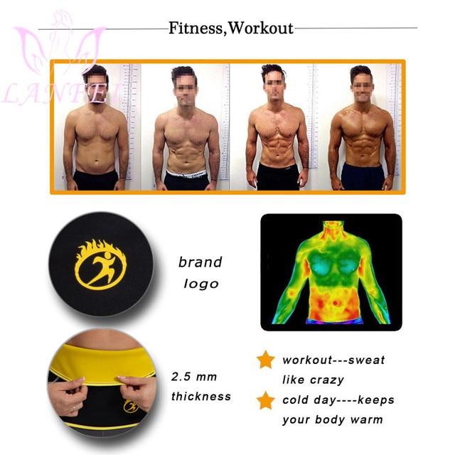 LANFEI Men Waist Trainer Belt Body Shaper Belly Wrap Neoprene Sauna Slimming Sweat Shapewear Workout Fitness Weight Loss Corset 1