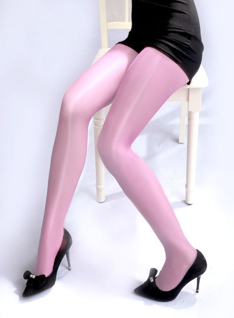 Sheer Shiny Glossy  Color High Waist Pantyhose 4