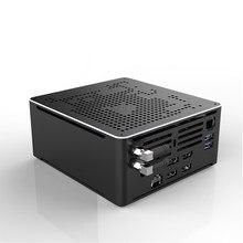 Hystou mini pc s210h, intel core i9-9880HK ddr4 barebone oito núcleo 2.3ghz a 4.8ghz win10 m.2 2280 ssd mini pc para computador, mini pc