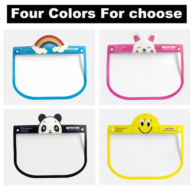 5pcs Transparent Face Shield For Kids Fog-proof Adjustable Dust-proof Protective Rotatable Head-Mounted Full Face Masks 2