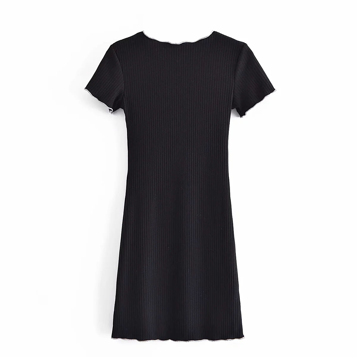 Sexy JewelNeck ShortSleeve Mini Bodycon Dresses DLQZ533