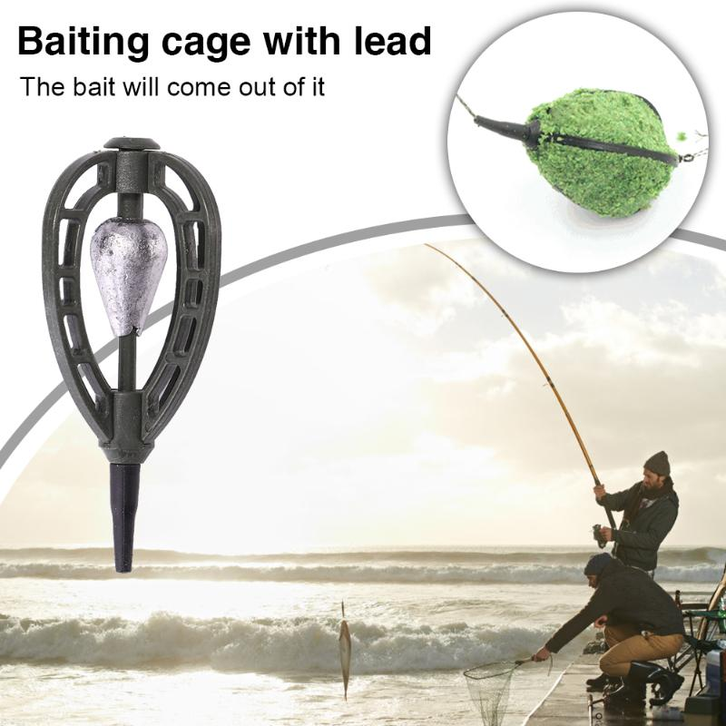 Carp Fishing Feeder Method Lure Cage Basket 40g 45g 60g Bait Trap Lead Sinker CO