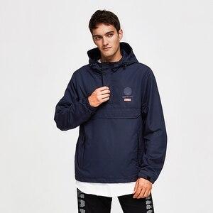 Image 4 - 虎力男性ジャケット春カジュアルジャケットパーカーフード付きジャケットサイドポケットコートヨーロッパサイズ