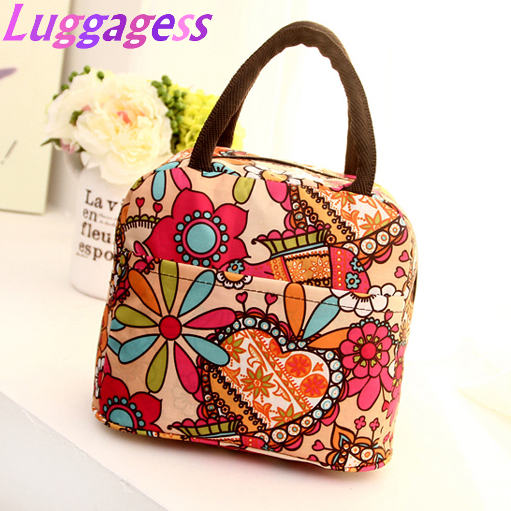 Bolsa Food Bag Lunch Bags New 2019 Tote Picnic Lunch Cool Bag Cooler Box Handbag Pouch Bolsa Almuerzo
